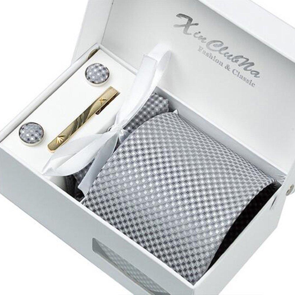 No.1 Blancho M/änner elegante Krawatten Set f/ür formale//informelle Gelegenheiten