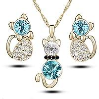 Ogquaton Calidad superior 4 piezas Moda Zircon Crystal
