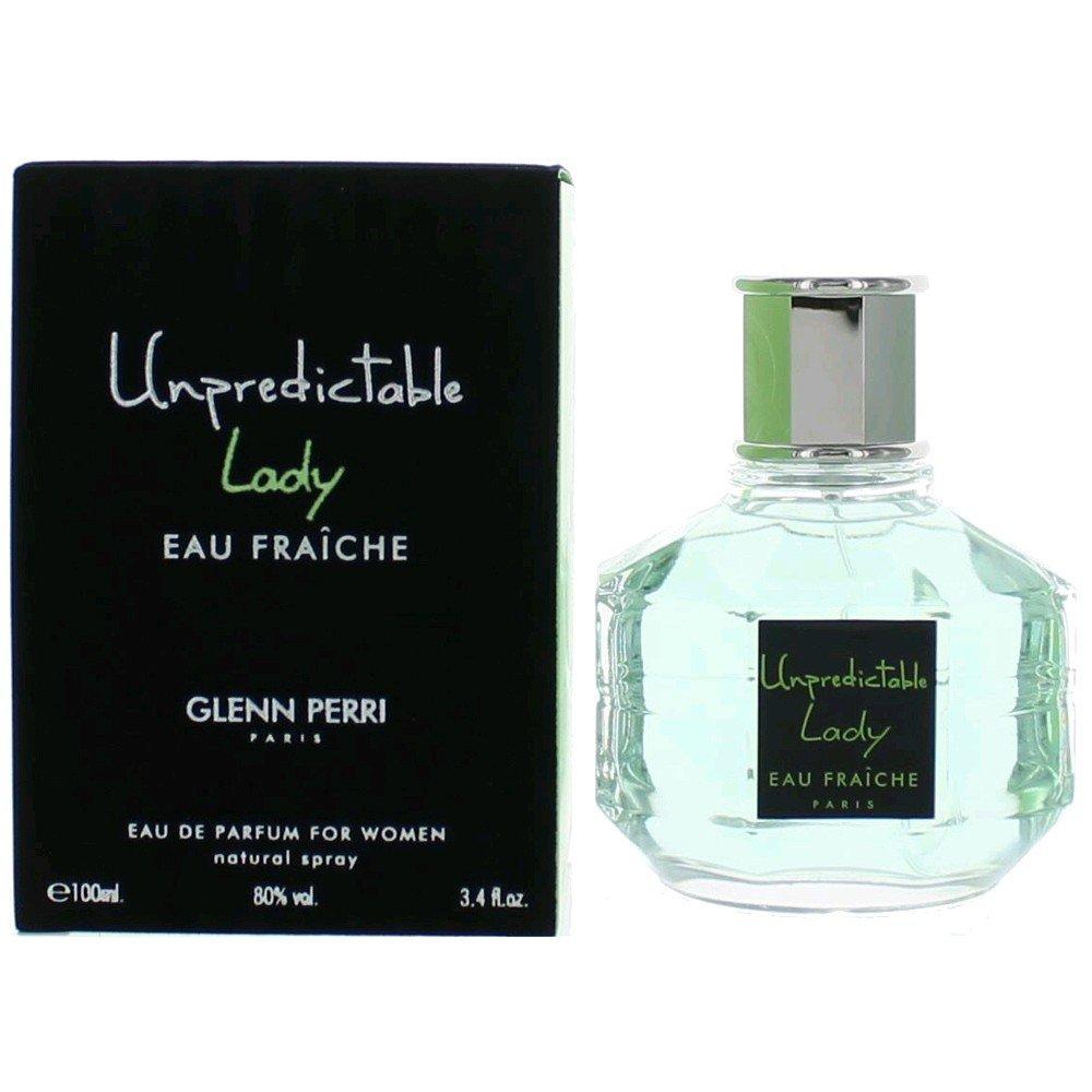 Glenn Perri Unpredictable Lady Eau Fraiche Eau De Parfum Spray for Women, 3.4 Ounce