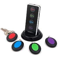 Vodeson Localisateur d'objets (clés, portefeuilles...) avec LED Porte Clés Siffleur Key Finder Anti-perte--- aucune Application Nécessaire