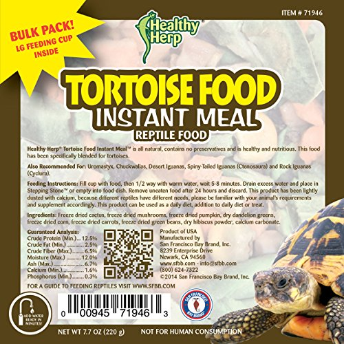 Image of Healthy Herp Tortoise Food Instant Meal Bulk 7.7-Ounce (220 Grams) Jar