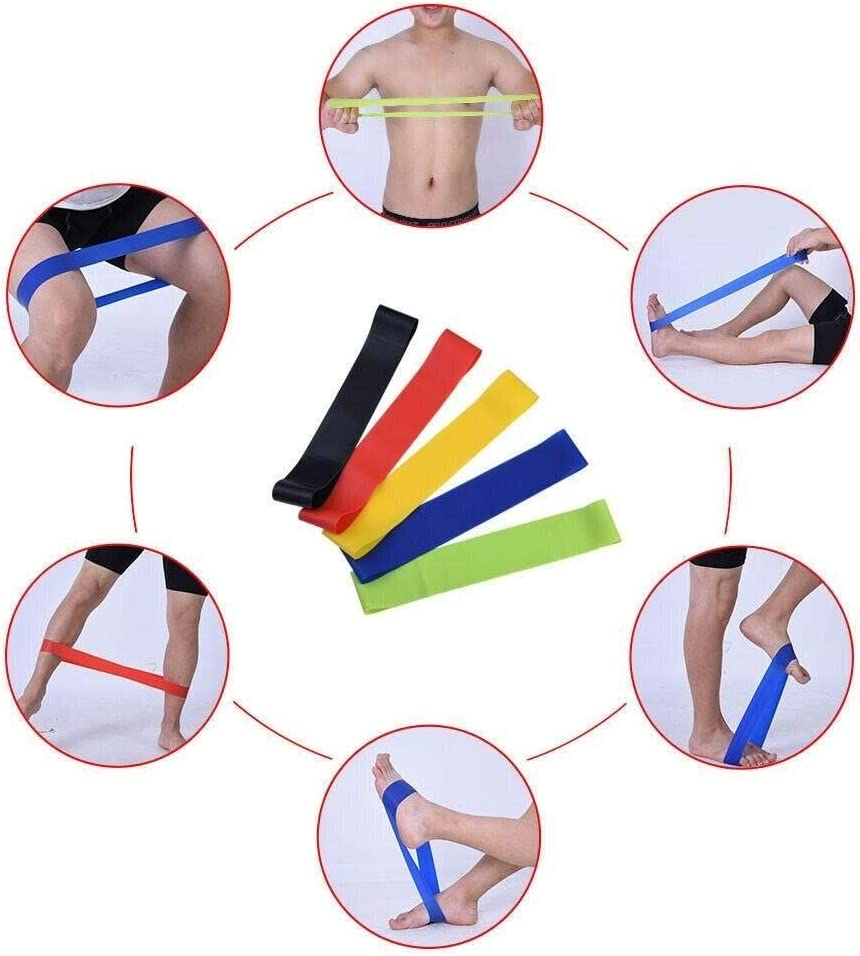 15PCS Resistance Band Ankle Strap Resistance Band Carrying Case Elastic Bands For Yoga Pilates Fitness Equipment Max 100 lbs Uanlixiaozhaoshangmaoy Resistance Band Set with Door Anchor