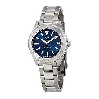 a433295d7f9 Amazon.com  Tag Heuer Aquaracer Blue Dial Ladies Watch WBD1312 ...