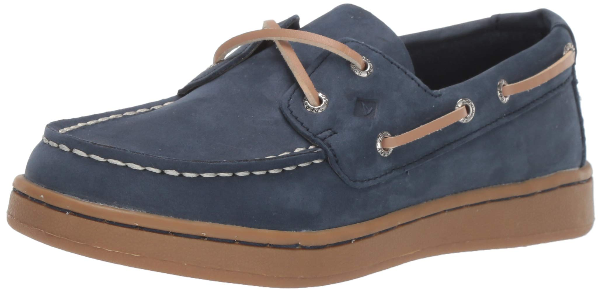 SPERRY Boys Cup II Boat Shoe, Navy/Gum, 5.5 M US Big Kid