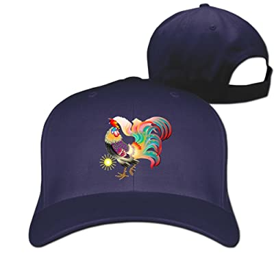 76f13dd30e3 DMN Unisex Beautiful Rooster Cock Baseball Hip-Hop Cap Vintage Adjustable  Hats For Women and