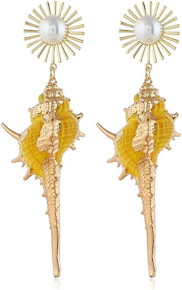 Pendientes, Pendientes Laterales Dorados, Viento Oceánico, Pendientes De Turquesa Bohemios, Pendientes De Aro Vintage, Adecuados Para Mujeres