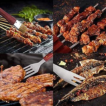 15PCS BBQ Grill Werkzeug Satz Grillzange Zusätze mit Koffer-Tasche,Ausrüstung