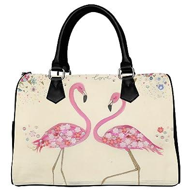 Amazon.com: d-story Custom Bolso Rosa Flamingo Love Bolso ...