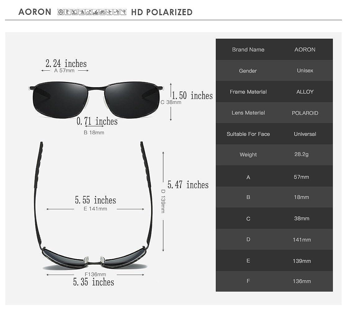 AORON Designer Polarized Men Sunglasses Polarized Outdoor Sports Goggles Glasses 100/% UV400 Protection Driving Eyewear Mens Sunglasses
