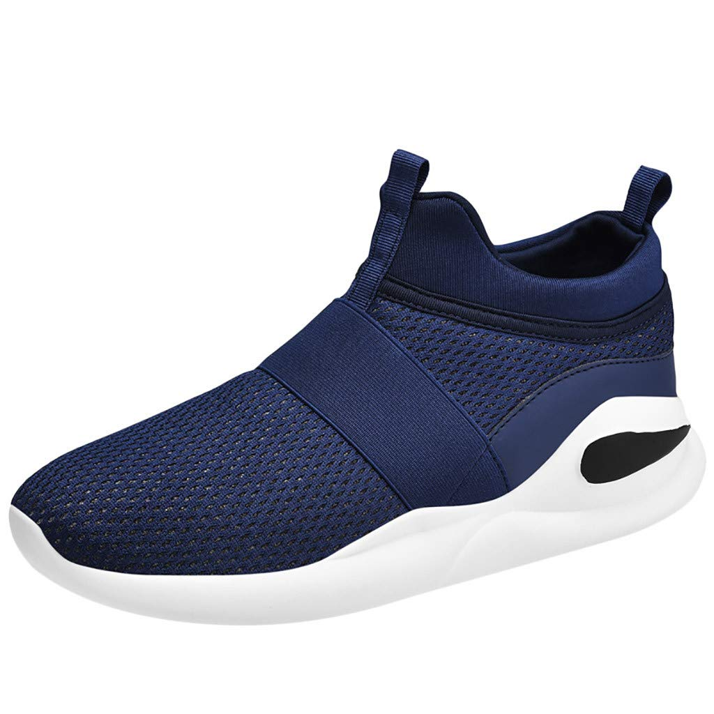 Men's Jogging Shoes - Fashion Fly Knit Comfortable Breathable Ultra Light Running Sneakers Casual Slip-on Non-Slip Sport Shoes