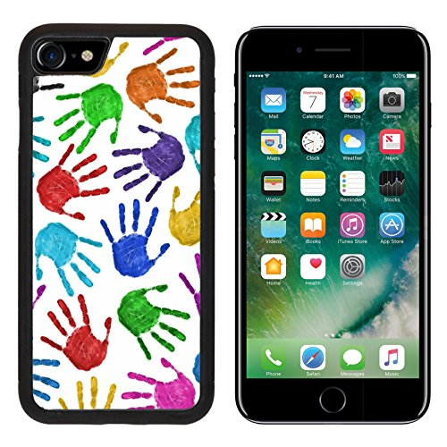 - Liili iPhone 7 Case and iPhone 8 Case Silicone Bumper Shockproof Anti-Scratch Resistant Tempered Glass Hard Cover IMAGE ID: 7936869 Seamless hands background isolated on white teamwork concept