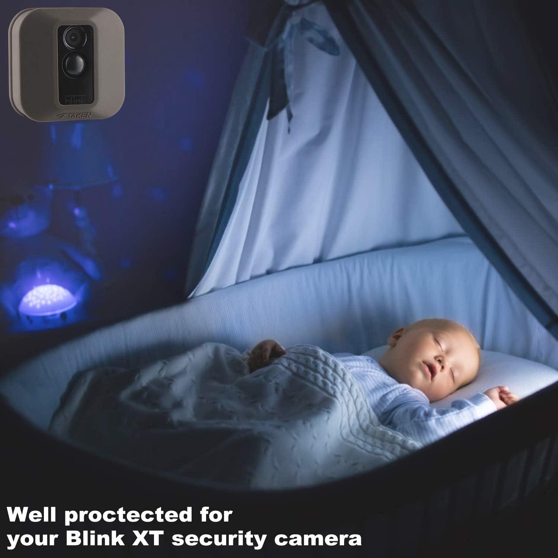 und Au/ßenbereich Dough.Q 3 St/ück Schutzh/ülle aus Silikon f/ür Blink XT2//XT Outdoor Home Sicherheitskamera UV und wasserabweisend f/ür Innen schwarz