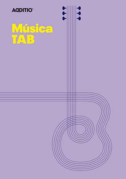 Additio Tab - Cuaderno de música para guitarra, color lila: BLOCK ...