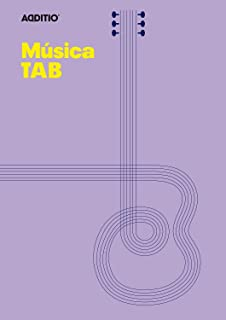 Additio Tab - Cuaderno de música para guitarra, color lila