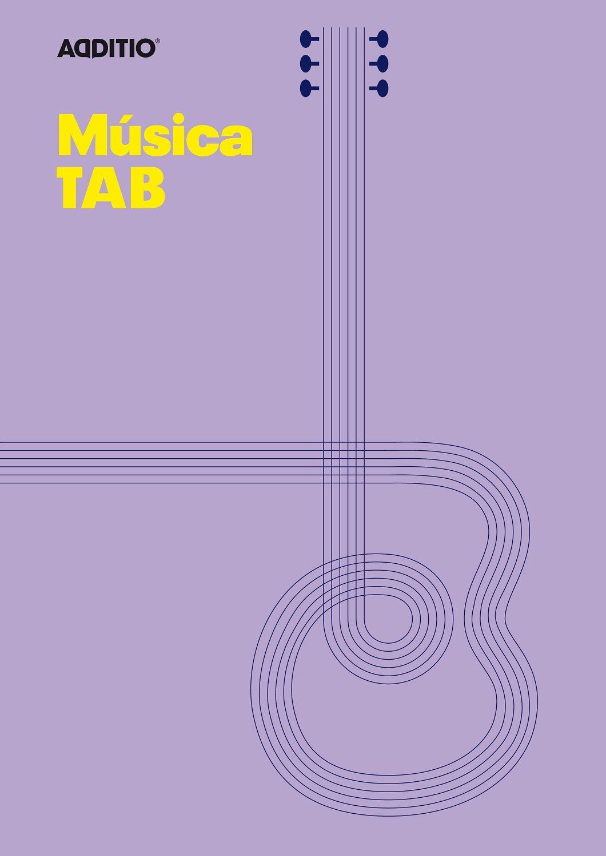 Additio Tab–Cahier de musique pour guitare, Couleur Lilas BLOCK MUSICAL M22 Reference books