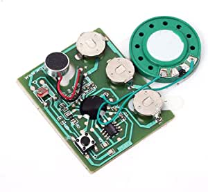 Icstation 30 Seconds Recording Light Sensor Sound Module Voice Recoder with MIC for DIY Musical Gift Box Speaking Greeting Cards Birthday Christmas Valentine