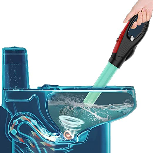 Easy to Block Toilet Dredge Used for Kitchen//Bathroom//Toilet//Sink Drain,Blue Pneumatic High-Pressure Quick Launching 5-Piece Pipe Dredger