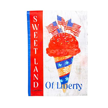 Sweet Land Of Liberty Garden Flag