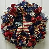 RWB Rustic Wreaths, Patriotic Wreaths (2613) For Sale