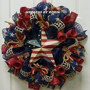 RWB Rustic Wreaths, Patriotic Wreaths (2613) 34