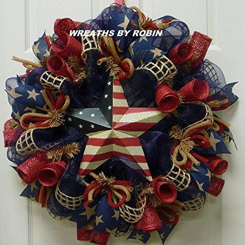 RWB Rustic Wreaths, Patriotic Wreaths (2613) -