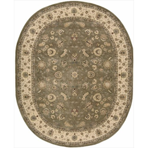 Nourison Nourison 2000 (2003) Olive Oval Area Rug, 7-Feet 6-Inches by 9-Feet 6-Inches (7'6