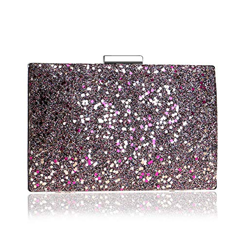 Party Evening Sequin Red Sparkly Bag Wedding Gift Clutch Ladies Rose For color Multi Cocktail Handbag Fashion 77dqrSw