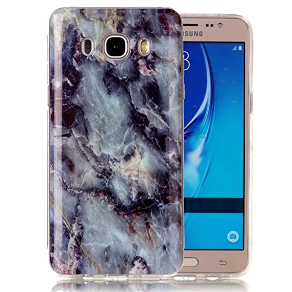 Galaxy J3 Case, Galaxy Amp Prime Case, Galaxy Express Prime Case, Ranyi  [Marble Stone Series] Soft TPU Smooth Marble Pattern Case for Samsung  Galaxy