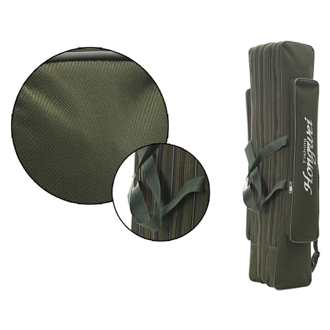 LBWNB Angelruten-Tasche Mehrzweck-Faltbare Angels/äcke Angelruten-Taschen Rei/ßverschluss-Taschen Angelzubeh/ör-Taschen Aufbewahrungstaschen