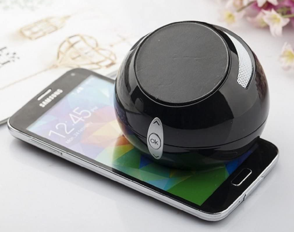 Black FM Radio Support SD Memory Card Cell Phone Stand with Bluetooth Wireless Speaker