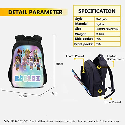 3Pcs Toddler Backpack for Boys with Lunch Bag Pencil Case Kids School Bags Student Bookbag for Girls Teens Game Fans Gifts Color 2