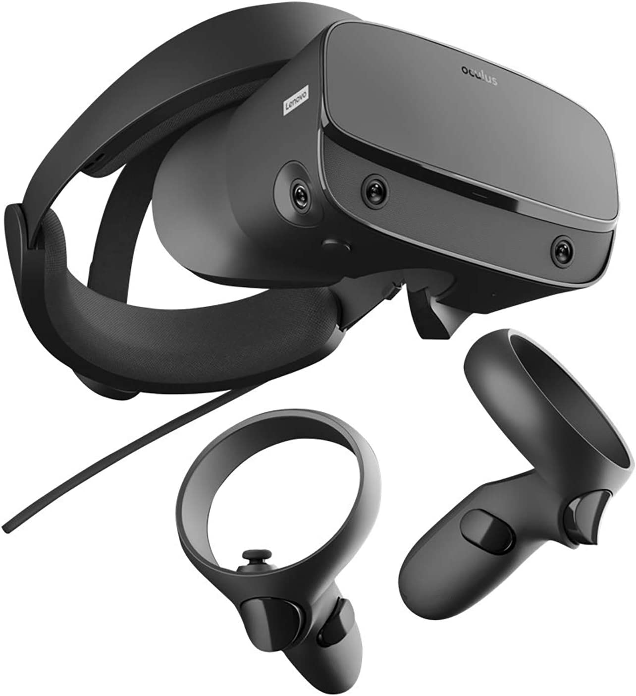 Black Adjustable Halo Headband 5FT USB Extension Cable 3D Positional Audio Rift S PC-Powered VR Gaming Headset BROAGE Glasses Cleaning Cloth Two Touch Controller Insight Tracking Oculus