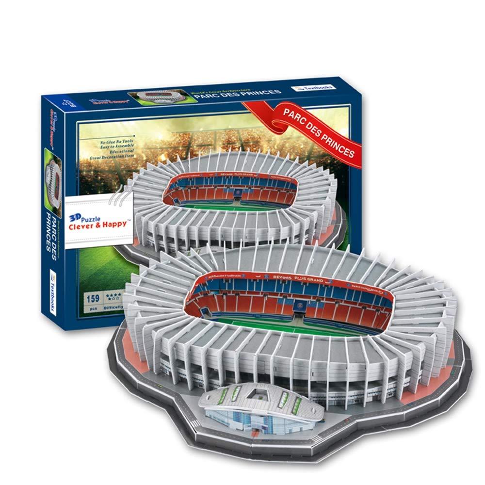 Sportstadion 3D-Modell, Paris Saint-Germain Prince Park Stadion Modell Souvenir Puzzle, 17 X 14  X 3  B07MB22PRX 3D-Puzzles Einfach zu spielen, freies Leben   Sofortige Lieferung