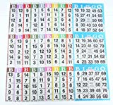 Bingo Paper Game Cards - 3 cards - 10 sheets - 100 books - 4 Inch by 12 Inch Size Disposable Sheet - Made in USA