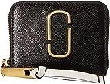 Marc Jacobs Women's Snapshot Mini Zip Card Case Black/Baby Pink One Size
