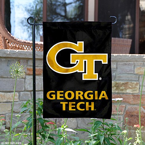 Georgia Tech Yellow Jackets Black Garden Flag and Yard Banne