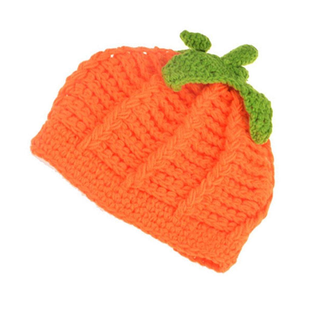 Baby Crochet Pumpkin Hat Toddler Knitted Beanie Halloween Infant Hooded Cap  JHH02 c24c8c82d096