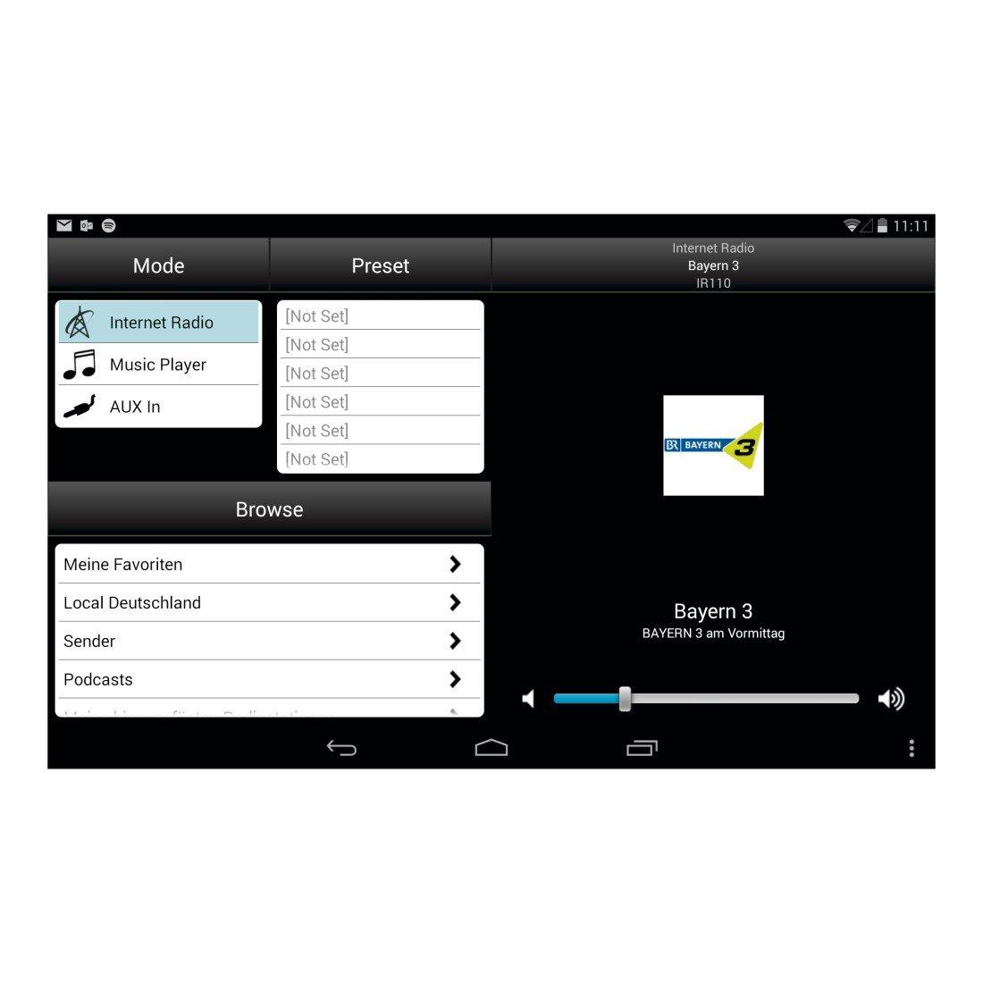 Hama Digital HiFi Tuner DIT2100MSBT Internet Radio DAB+// FM//App Black