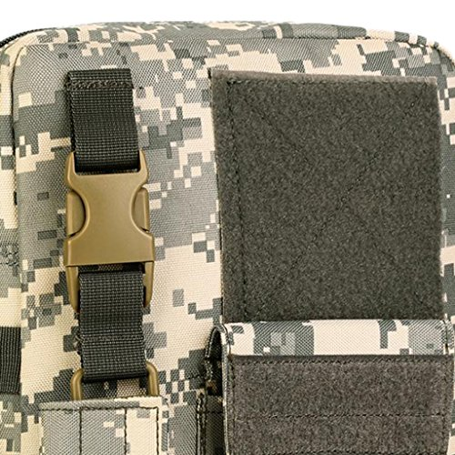 Gazechimp Bolsa de Bandolera Bolsa Multifuncional para Hombre - Caqui Oscuro ACU Digital