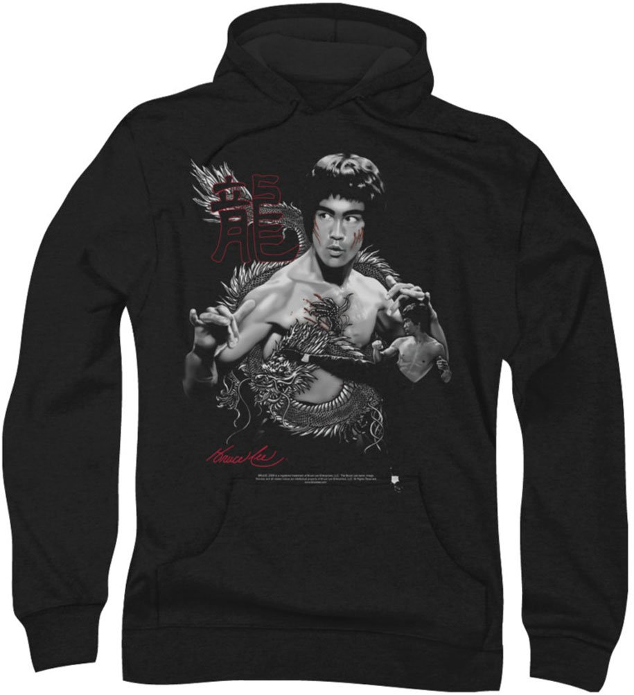 Hoodie: Bruce Lee - The Dragon Pullover Hoodie Size XL