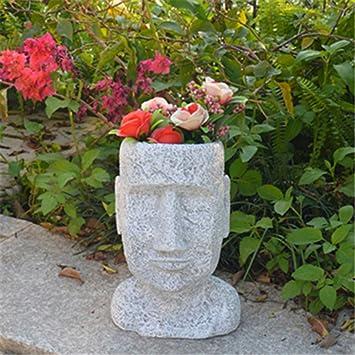 Figura Decorativa para jardín Retrato Escultura Maceta Jardín Paisaje Resina Impermeable Césped Decoración Manualidades Regalo (A B) A:7 * 14 * 25cm: Amazon.es: Bricolaje y herramientas