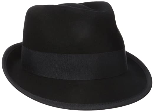 Henschel Men s 100% Wool Felt Fedora with Binding On 2 quot  Brim 27422539a08