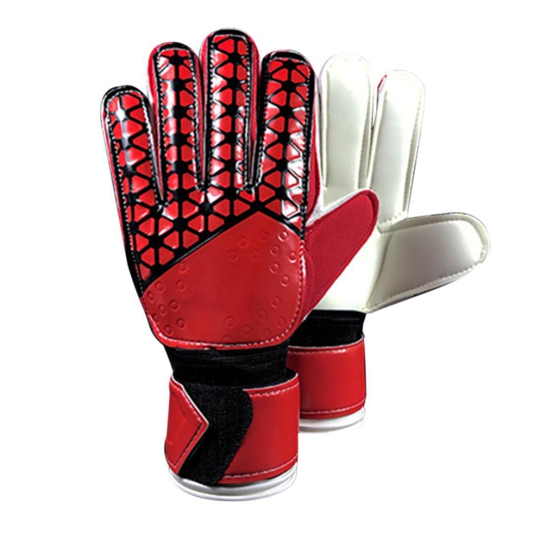 nacome新しいPUラテックスゴールキーパーグローブアウトドアFootball保護手袋 B0778L5Y43  A