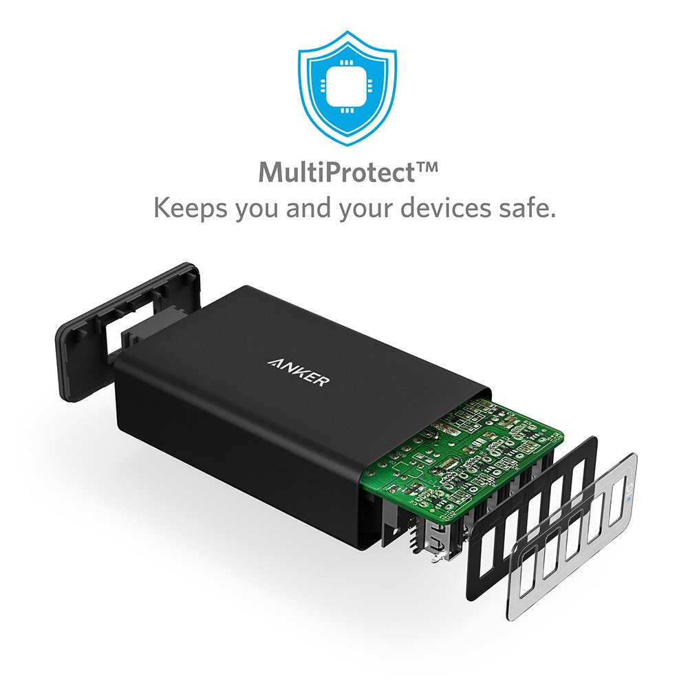 Anker PowerPort 5 (40W 5 Puertos Cargador USB de Pared para ...