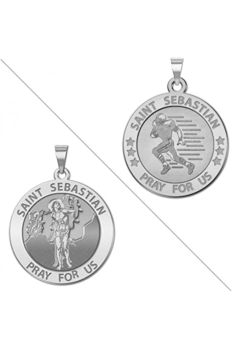 Solid 14K Yellow Gold 1//2 X 2//3 Inch Size of Dime PicturesOnGold.com Saint Audrey Religious Medal
