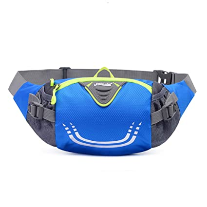 76bc58258b5a Xboun Fanny Pack with Water Bottle Holder Unisex Hiking Waist Packs -  Adjustable Run Belt Storage Pouch with Zipper Pocket for Walking Running,  Fits ...