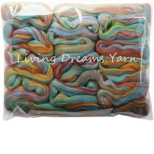 - Sparkle, Glitz and Glam: Colorful Merino with Shimmering Stellina Highlights. Super Soft Fiber for Spinning, Felting and Blending. Sparkling Rainbows