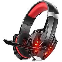 Gaming Headset para PS4 Xbox One PC, diza100 Gaming Auriculares con micrófono, LED Light Bass Surround Carcasa de…