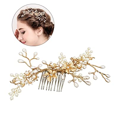 offre plus près de prix bas Frcolor Bridal perle strass peigne en épingle à cheveux Chic ...