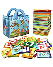 TEYTOY Baby Toys Zoo Series 26 Pcs Early Educational Toys Soft Alphabet Cards with Cloth Bag for Over 0 Years